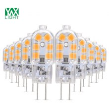 10PCS YWXLight G4 LED Lampe Lampada 360 Degree Transparent Shell DC 12V
