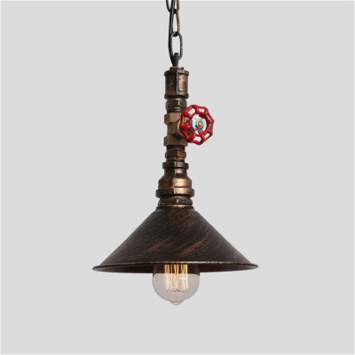 Brightness Pendant Light Rustic / Lodge Vintage Retro Painting Feature for Mini Style Metal Dining Room Kitchen Entry Hallway GaragePendant Light<br>Brightness Pendant Light Rustic / Lodge Vintage Retro Painting Feature for Mini Style Metal Dining Room Kitchen Entry Hallway Garage<br><br>Battery Included: No<br>Bulb Base: E27<br>Bulb Included: No<br>Bulb Type: Incandescent<br>Chain / Cord Adjustable or Not: Chain / Cord Adjustable<br>Chain / Cord Length ( CM ): 80<br>Features: Mini Style<br>Finish: Black,Oil-rubbed Bronze<br>Fixture Height ( CM ): 29<br>Fixture Length ( CM ): 22<br>Fixture Material: Metal<br>Fixture Width ( CM ): 22<br>Light Direction: Downlight<br>Number of Bulb: 1 Bulb<br>Number of Bulb Sockets: 1<br>Package Contents: 1 x Pendant Light, 1 x English Manual, 1 x Accessories Bag<br>Package size (L x W x H): 30.00 x 30.00 x 15.00 cm / 11.81 x 11.81 x 5.91 inches<br>Package weight: 2.5000 kg<br>Product size (L x W x H): 22.00 x 22.00 x 29.00 cm / 8.66 x 8.66 x 11.42 inches<br>Product weight: 1.8000 kg<br>Shade Material: Metal<br>Style: Country, Vintage antique<br>Suggested Room Size: 0 - 5?<br>Suggested Space Fit: Cafes,Dining Room,Entry,Game Room,Hallway,Indoors,Kitchen,Living Room,Office,Study Room<br>Type: Pendant Light, Retro<br>Voltage ( V ): AC220<br>Wattage per Bulb ( W ): 60