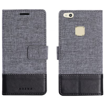 Durable Canvas Design Flip PU Leather Wallet Case for Huawei P10 Lite
