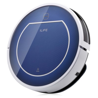 ILIFE V7 Super Mute Sweeping Robot Home Vacuum Cleaner Dust Cleaning with 2500mAh Li-ion Battery