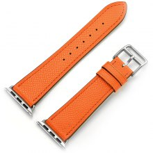 Solid Color Leather Man Strap for Apple Watch 42mm