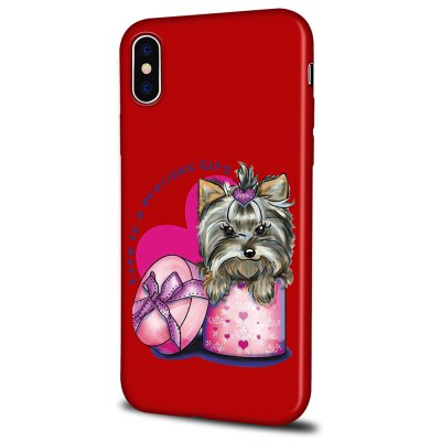 Soft Texture TPU Phone Case for iPhone X Back Cover Gift Dog