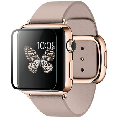 Black Edge Tempered Glass Screen Protection for Apple Watch 38MM/42MM