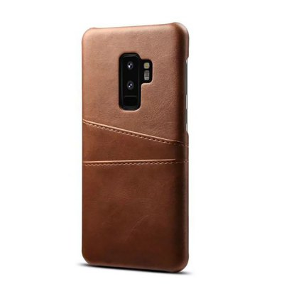for Samsung Galaxy S9 Plus Cowhide Texture Leather Back Case Cover with Card Sot