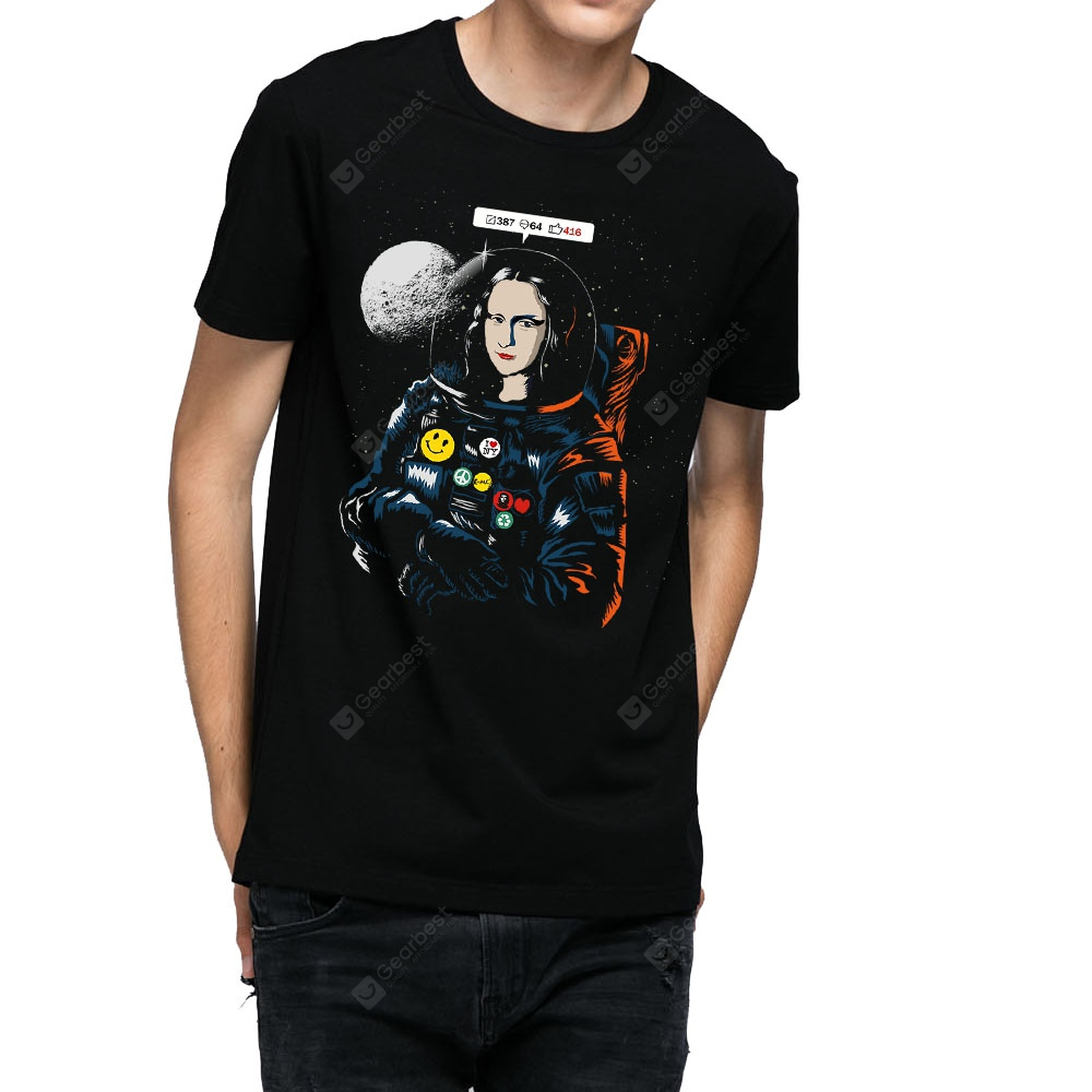 HB Men's Pure Cotton High Definition Printing T-shirt-000393