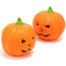 2PCS Cute Scented Halloween Pumpkin Soft Squeeze Slow Relief Funny Kid Toy