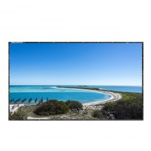 Excelvan 120 Inch 16:9 Collapsible PVC HD Portable Home And Outdoor Use Projector Screen With Hanging Hole For Front Projection