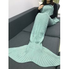 Crochet Knitting Mermaid Tail Style Blanket