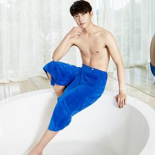 Comfortable Microfiber Men Bath Skirt Towel with Buttons