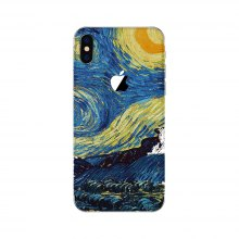 Beautiful Painting Pattern Adhesive Back Protective Film for iPhone X