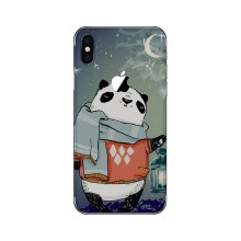 Funny Panda Pattern Adhesive Back Protective Film for iPhone X
