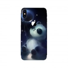 Lovely Panda Pattern Adhesive Back Protective Film for iPhone X
