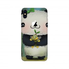 Cute Panda Pattern Adhesive Back Protective Film for iPhone X