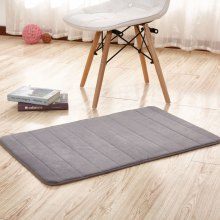 Doormat Coral Fleece Thick Anti Skidding Soft Solid Kitchen Mat