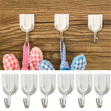 Hoard 6PCS Strong Adhesive Hook Wall Door Sticky Hanger Holder Kitchen Bathroom