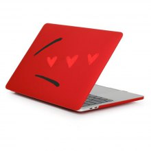 Case for Macbook Air 13.3 inch Rubberized Matte Hard Shell Love Pattern