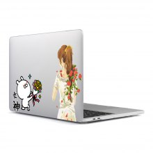 Computer Shell Laptop Case Keyboard Film Surface + Low for MacBook Air 13.3 inch 3D Small Fresh Series 11