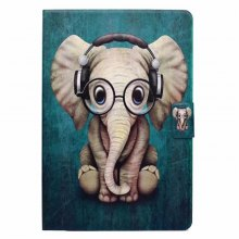 Case for iPad Mini 1 / 2 / 3 / 4 Card Holder with Stand Flip Pattern Full Body Elephant Hard PU Leather
