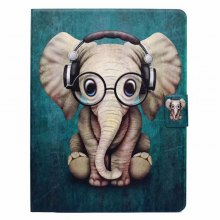 Case For iPad 2 / 3 / 4 Card Holder with Stand Flip Pattern Full Body Elephant Hard PU Leather