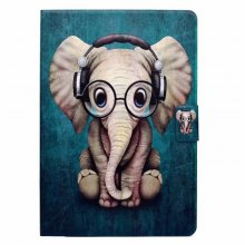Case for iPad Pro 10.5 Card Holder with Stand Flip Pattern Full Body Elephant Hard PU Leather