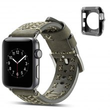 Fabric Leather 2 - in - 1 38MM Strap for iWatch Band