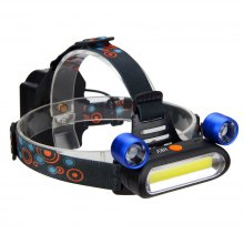HKV COB LED Headlamp Torch Rechargeable Headlight Lamp Camping