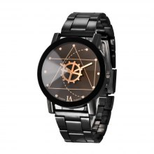 V5 Fashion Trendy Stainless Steel Band Men Watch