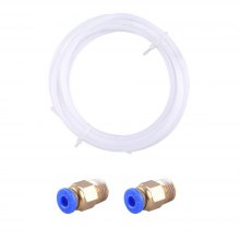 2 Meters PTFE Teflon Tube 1.75mm with 2Pcs PC4-M6 Fittings for Creality CR-10