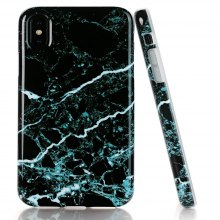 Creative Design Flexible Soft Black Marble TPU Case for iPhone X