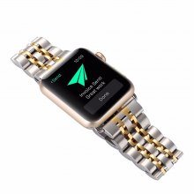 Stainless Steel 38mm Seven Wheel for iWatch Series 3 / 2 / 1