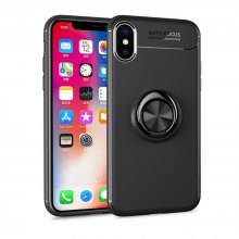Cover Case for iPhone X Ring Stealth Kickstand 360 Degree Rotating Grip