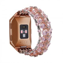 Pintaik 2018 Fashion Crystal Beaded Women Elastic Bracelet for Fitbit Ionic