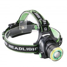 HKV COB LED Headlamp Waterproof 4 Modes Zoomable Portable Light for Fishing