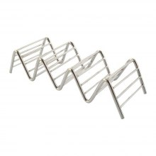 Taco Holder 3 Wave Shape Stainless Steel Food Rack Hard Shell Kitchen Tool