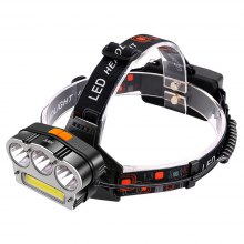 HKV USB Rechargeable LED Headlamp Torch Headlight for Outdoor Camping