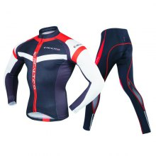 REALTOO Men's Long Sleeves Cycling Suits Bicycle Jersey Bicycle Riding Suit