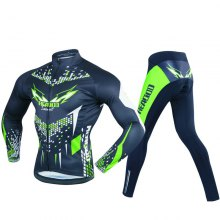 REALTOO Men's Long Sleeves Riding Suit Cycling Suits Bicycle Jersey