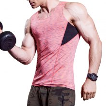 Quickly Dry Men'S Compression Fitness Tights Sleeveless Running Gym Vest