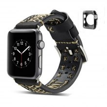 Fabric Leather 2 - in - 1 42MM Strap for iWatch Band