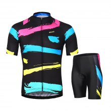 ARSUXEO Men's Cycling Jersey Short Sleeves Bike Clothing Suits
