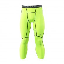 ARSUXEO Men Compression 3/4 Capri Shorts Baselayer Cool Dry Sports Tights