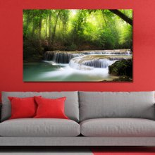 WPZB8A4Q Photography A Small River in the Forest Print Art