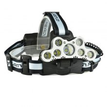 1800LM 7xT6 USB Rechargeable 18650 LED Headlight