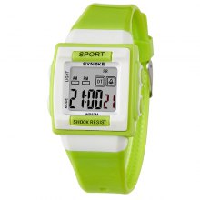 SYNOKE Students Multicolor Silicone Jelly Waterproof Digital Watch