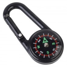 Outdoor Camping Hiking Mountaineering Portable Buckle Keychain with Compass