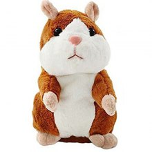 Talking Hamster Pet Plush Toy Repeat What You Say Educational Toy for Children