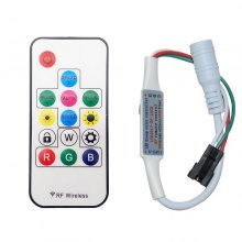 LED Dream-Color Controller with 14Keys RF Remote 358Kinds Effects Set