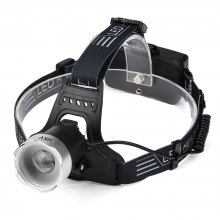 HKV Zoom Sensor LED Headlight Induction Waterproof USB Rechargeable Headlamp