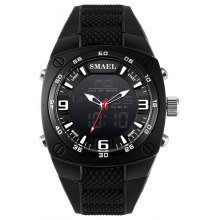 SMAEL 1008 Multi-function Classic Silicone Band Military Waterproof Sport Watch