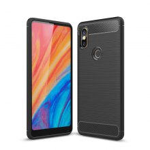 Shockproof Soft TPU Brushed Carbon Fiber Texture Case for Xiaomi Mi Mix 2s